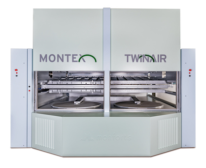 The new Montex chamber is operated with an additional preheated fresh air system for even less thermal energy consumption by the dryer (c) 2019 Monforts