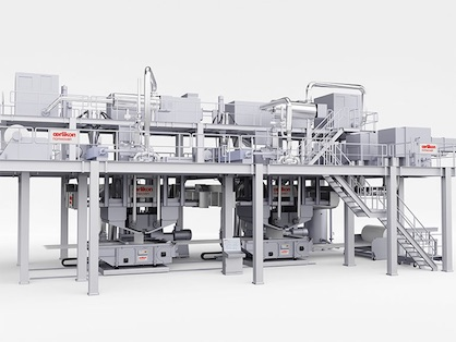 The Oerlikon Nonwoven meltblown technology is recognized by the market as being the technically most efficient method for producing highly-separating filter media made from plastic fibers (c) 2020 Oerlikon
