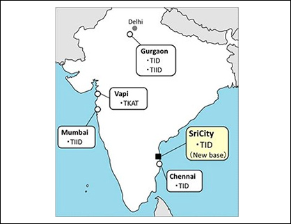 Toray Group bases in India