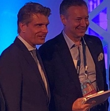 The Texprocess Award ceremony giving the prize to Dr. Seidl (c) 2019 Assyst