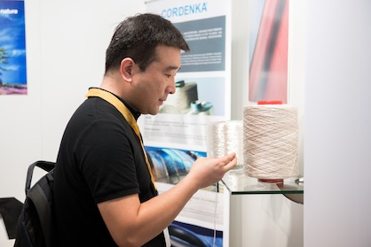 Yarn at CINTE Techtextil (c) Messe Frankfurt