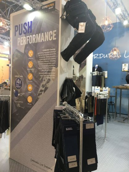 CORDURA at A+A Show in Düsseldorf showcasing the latest CORDURA® brand innovations for work gear. (c) 2017 CORDURA