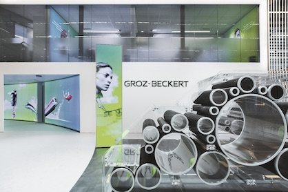 Presentation of the Groz-Beckert carding division at ITMA 2019 (c) 2019 Groz-Beckert