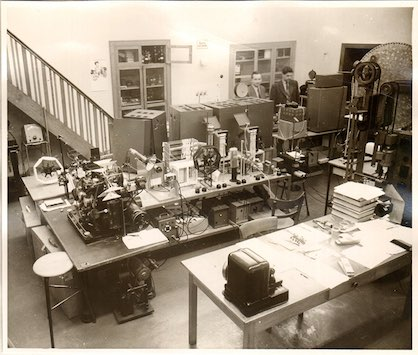 ITA's laboratory in 1956, source: RWTH Aachen University (c) 2019 ITA