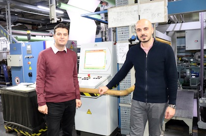 Istanbul Boyahanesi plant manager Hakan Kaplan (left) and co-founder and director Kemal Taşkin (c) 2019 Monforts