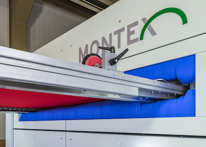 The patented Monforts Bionic Fin® slot sealing absolutely minimizes air leakage at the fabric inlet and outlet of the stenter chamber (c) 2019 Monforts