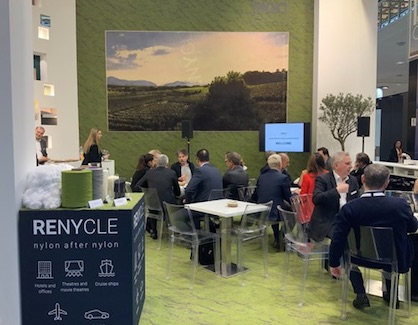 Promoting the new Renycle at Domotex (c) 2020 Radici