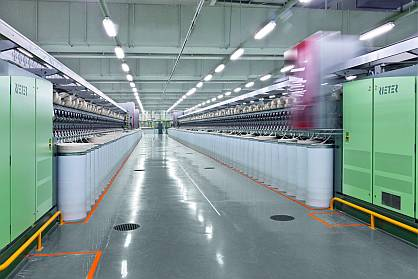 Factory with Rieter spinning machines (c) 2021 Rieter
