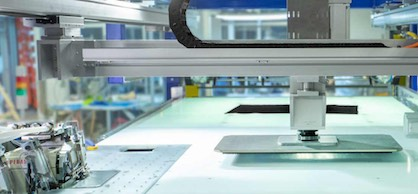 The LOWRY® has been used in the automated production of rugs, bath mats, towels, pillows, automotive, and medical products (c) 2018 Softwear Automation