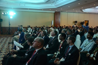 A very well-received VDMA conference and B2B in Mumbai (c) 2018 VDMA Textilmaschinen