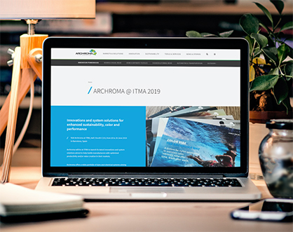 Stay tuned with Archroma highlights and activities at ITMA 2019 by visiting on the dedicated event webpage. (Photo: Archroma)