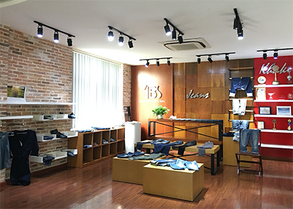 Denim show room at Vietnam-based Tuong Long, the first denim manufacturer in Vietnam to switch 100% of its production to Archroma's aniline-free* Denisol® Pure Indigo.