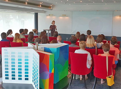 The Color Atlas by Archroma® on display at a Carlin color workshop held on June 21, 2018 in Lyon, France. (Photo: Archroma)
