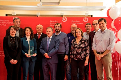 Pic: Representatives of FM Global Management, B.I.G. Management and Ideal Fibres & Fabrics Project Team at the Award ceremony on November 7, 2017. (Photo: © Beaulieu International Group)
