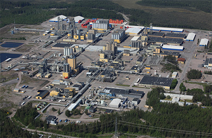 Aerial view of the ISCC PLUS certified Borealis location in Porvoo, Finland photo: © Röni Kuva Oy