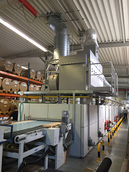 The extended belt dryer with directly mounted heat-recovery system (c) 2020 Brückner