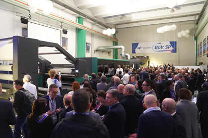 (c) EFI - open house event showing EFI Reggiani BOLT textile digital printer