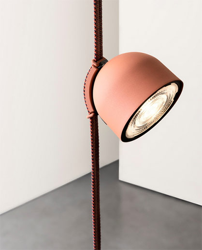 A light rail for lamps made of a soft and conductive textile belt realized in the Project TPL. © Textile Prototyping Lab