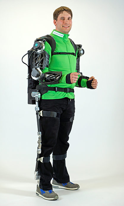Pic: Development of a highly dynamic, light jacket-orthosis system for use in industry, rehabilitation and sports<br /> © Hohenstein Group