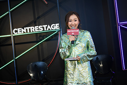 Rikko Lee, emcee of the CENTRESTAGE 2019 media preview, is dressed in ANAÏS JOURDEN (c) HKTDC