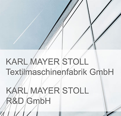 Name extension for KARL MAYER companies after the merger with STOLL (c) 2020 KARK MAYER