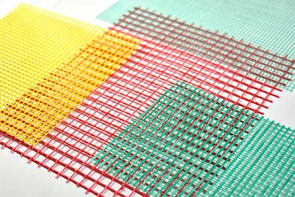 Grid structures from a knitting machines with weft insertion for use in the construction sector © 2021 KARL MAYER