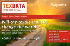 The cover of issue 1/2 of the TexData Magazine