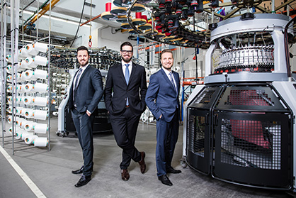 The Mayer & Cie. management trio: Benjamin Mayer, Sebastian Mayer and Marcus Mayer (from l. to r.) (c) 2019 Mayer & Cie