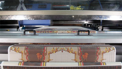 Example of a textile printed on one of the Tiger-1800B MkII printers operating at Moti Fabrics' production facility in Faisalabad, Punjab province, Pakistan © 2020 Mimaki