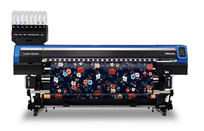 Another product under the spotlight in Mimaki's virtual showcase will be the Mimaki Tx300P-1800 MkII hybrid textile printer © 2020 Mimaki