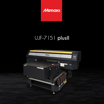 Announced just this month, the UJF-7151 plusII is designed for seamless and reliable high-speed production and is also set to take the spotlight at FESPA. © 2021 Mimaki