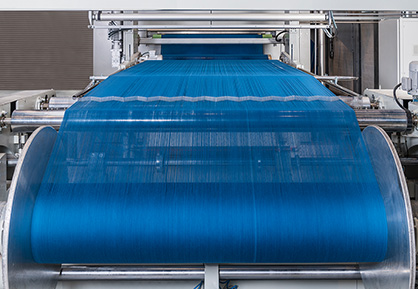 The new CYD yarn dyeing pilot line at the Monforts Advanced Technology Centre in Mönchengladbach, Germany. (c) 2019 Monforts