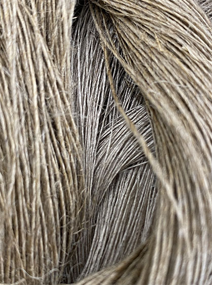 Cottonization, is necessary to make the fibre suitable for spinning, because compared to cotton, hemp is longer, stiffer, and less flexible. © Cone Denim