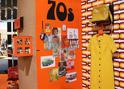 Looking back to the 1970s at Heimtextil 2020. (c) 2020 Monforts