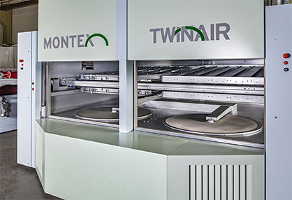 On the Monforts TwinAir system, the airflows above and below the fabric being dried can be regulated completely independently of each other. © 2020 Monforts
