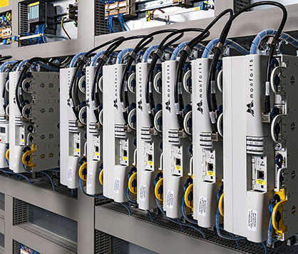 Micoprocessors within Monforts switch cabinets provide today's Montex stenters with superb flexibility and control. (c) 2020 Monforts