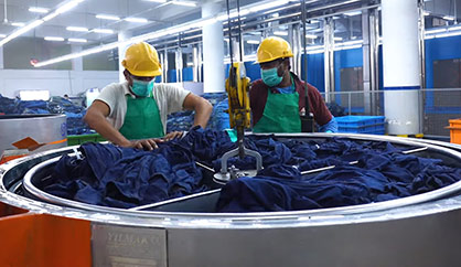 AGI Denim now recycles 4.4 million gallons of water each month as a result of its new wastewater treatment plant. © 2021 Monforts