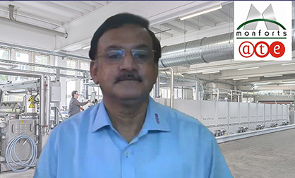 Gurudas Aras, Director of the Textile Engineering Group, ATE. © 2020 Monforts