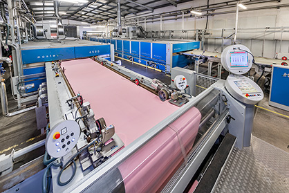 The Monforts Montex stenters at ATB are all 2.4 metres wide and use the latest control equipment to grant the highest possible process quality/reproducibility. (c) 2018 AWOL Media / Monforts