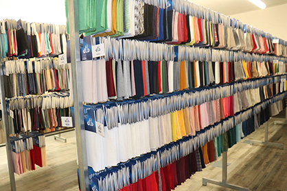 Customers like Inditex will very quickly need five metres of any given fabric for prototyping, requiring a highly-organised stock control system. (c) 2018 AWOL Media