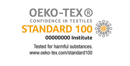 The STANDARD 100 by OEKO-TEX® label offers consumers effective protection from unwanted harmful substances in textiles. The OEKO-TEX® label is one of the world's most widely used and best-known certifications of its kind and sets the standard for textile product safety around the world. © OEKO-TEX®