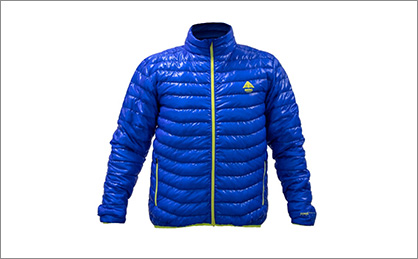 Image Caption: The new GERES Zero Gravity Down Jacket made with Porcher Sport's recycled parachute fabric.  (c) 2019 Porcher