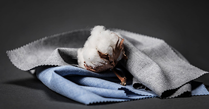Alumo uses only extra-long staple cotton which is woven and finished in their Swiss factory (c) 2018 Messe Frankfurt