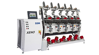 SSM XENO-YW, depending on the application and winding parameters, the power consumption of these high-performance winding machines is just 18 to 100 watts per winding unit