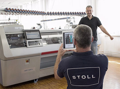 Swiss tech start-up meepl announce partnership with leading flat knitting manufacturer STOLL © STOLL