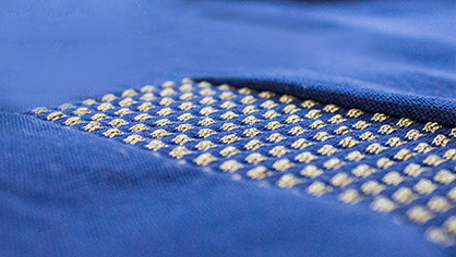 TT e-tex | By introducing conductive yarns, it is possible to create intelligent and functional textile solutions (c) 2019 STOLL
