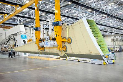 Wing Production at Bombardier Belfast (c) 2019 Teijin
