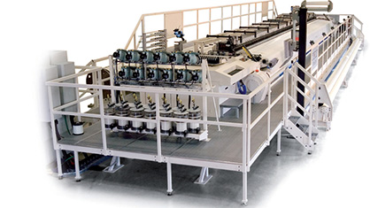 Texo's TCR high-speed loom developed specifically for the production of forming fabrics for paper machines. (c) 2019 Texo AB