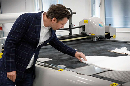 """""""Right now everyone should be making the same product at the same time, all around the world,"""" says Christian Moore, who had to work hard to gain access to the necessary nonwovens. Image courtesy of BoråsTidning.  (c) 2020 TMAS"""
