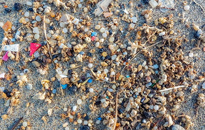 Microplastics can enter the environment and stay there for decades. © 2021 Truetzschler